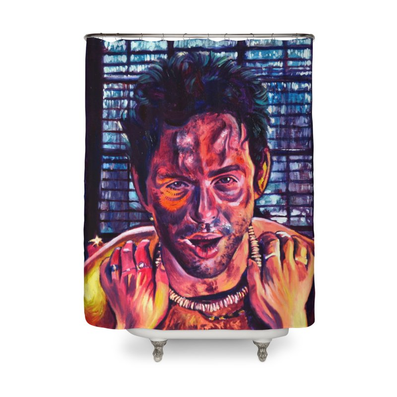 become the journey Home Shower Curtain by paintings by Seamus Wray