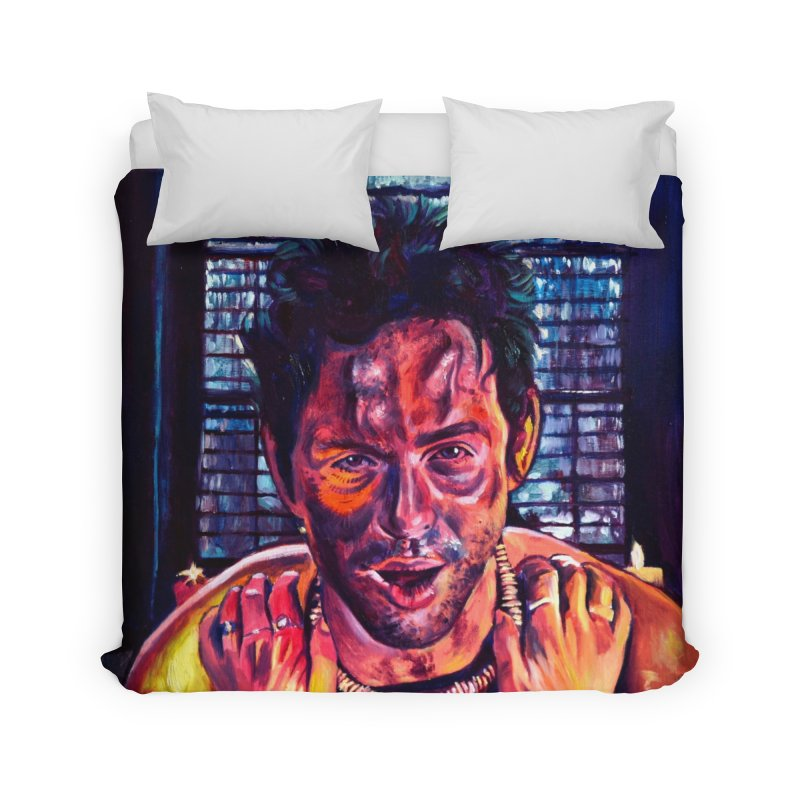 become the journey Home Duvet by paintings by Seamus Wray