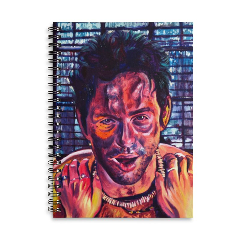 become the journey Accessories Lined Spiral Notebook by paintings by Seamus Wray