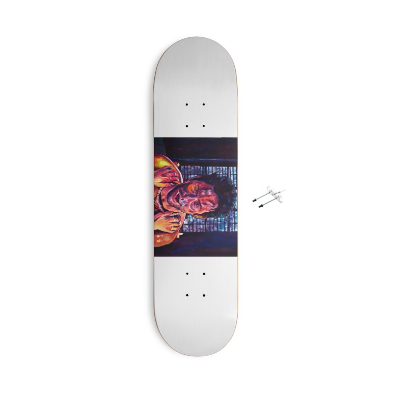 become the journey Accessories With Hanging Hardware Skateboard by paintings by Seamus Wray
