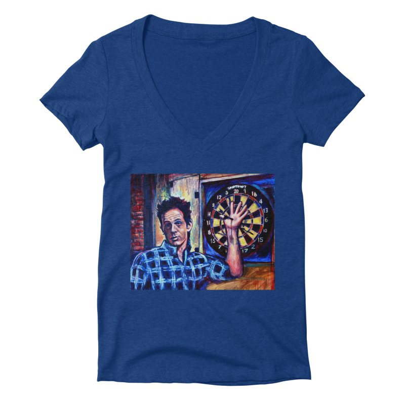 dart Women's Deep V-Neck V-Neck by paintings by Seamus Wray