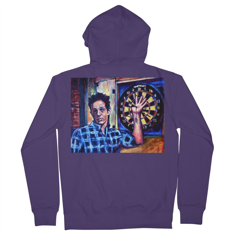 dart Women's French Terry Zip-Up Hoody by paintings by Seamus Wray