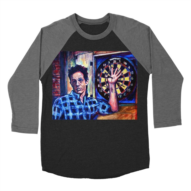 dart Men's Baseball Triblend Longsleeve T-Shirt by paintings by Seamus Wray