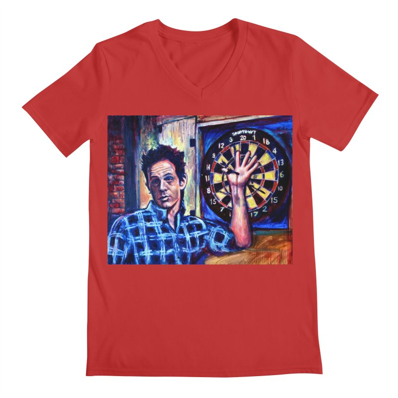 dart Men's Regular V-Neck by paintings by Seamus Wray