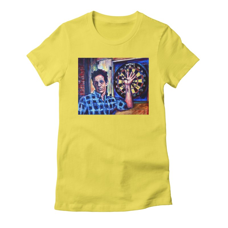 dart Women's Fitted T-Shirt by paintings by Seamus Wray