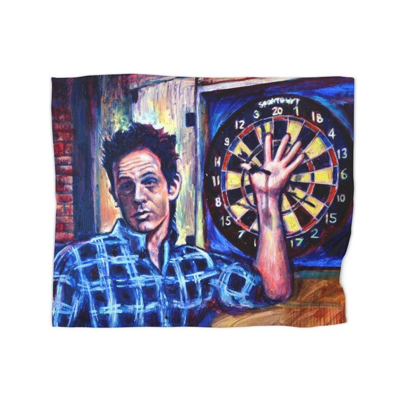 dart Home Fleece Blanket Blanket by paintings by Seamus Wray