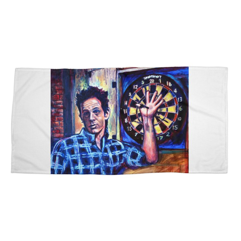dart Accessories Beach Towel by paintings by Seamus Wray