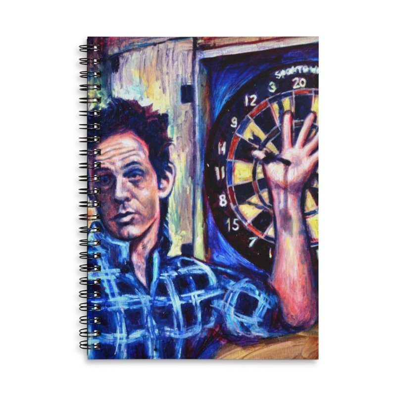 dart Accessories Lined Spiral Notebook by paintings by Seamus Wray