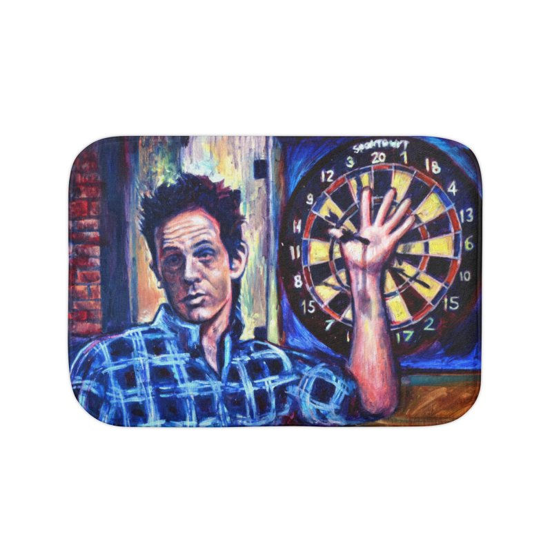 dart Home Bath Mat by paintings by Seamus Wray