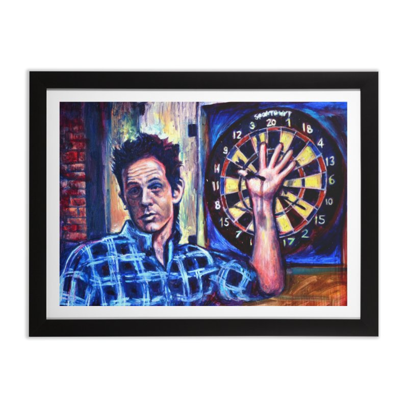 dart Home Framed Fine Art Print by paintings by Seamus Wray
