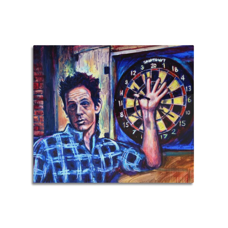 dart Home Mounted Aluminum Print by paintings by Seamus Wray