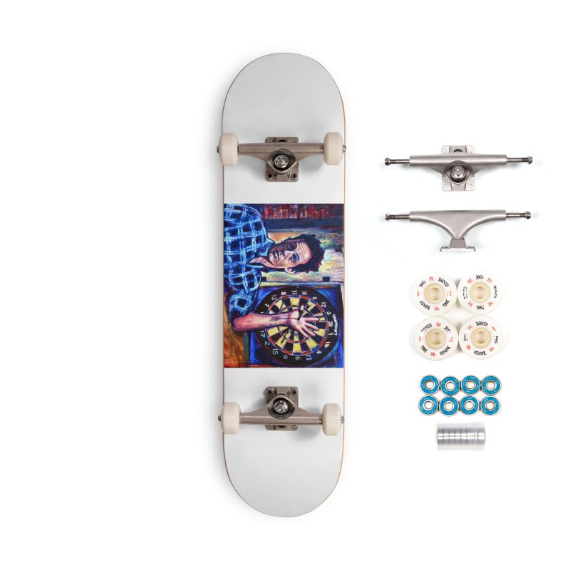 dart Accessories Complete - Premium Skateboard by paintings by Seamus Wray