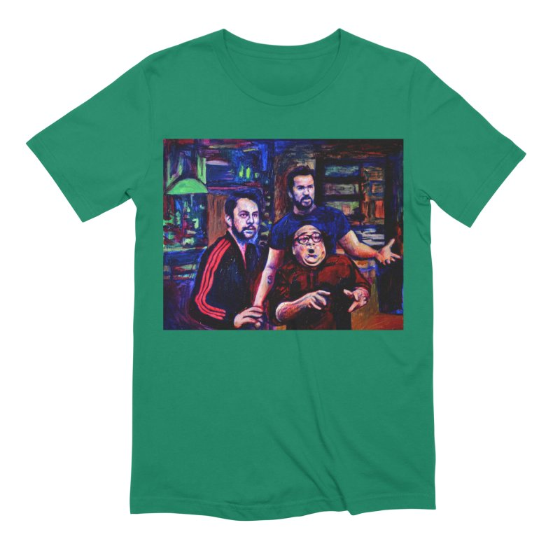reactions Men's Extra Soft T-Shirt by paintings by Seamus Wray