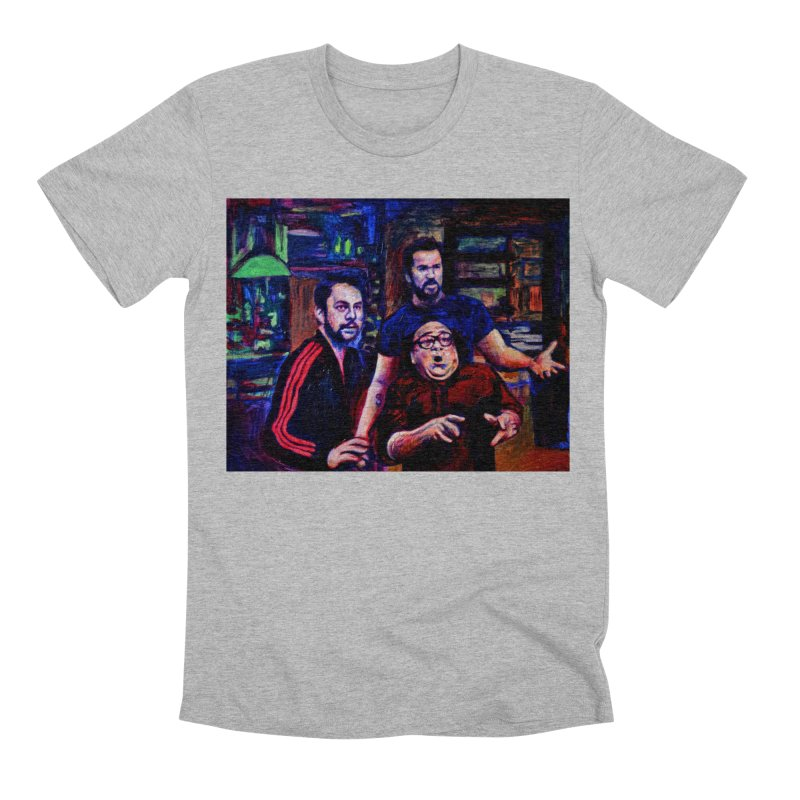 reactions Men's Premium T-Shirt by paintings by Seamus Wray
