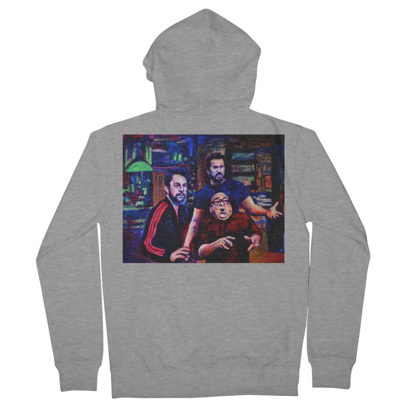 reactions Men's French Terry Zip-Up Hoody by paintings by Seamus Wray