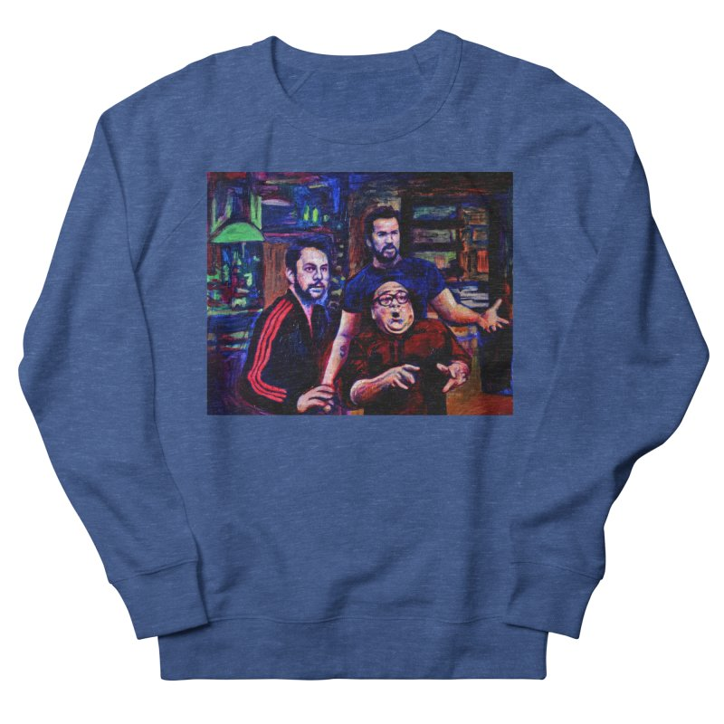 reactions Men's French Terry Sweatshirt by paintings by Seamus Wray
