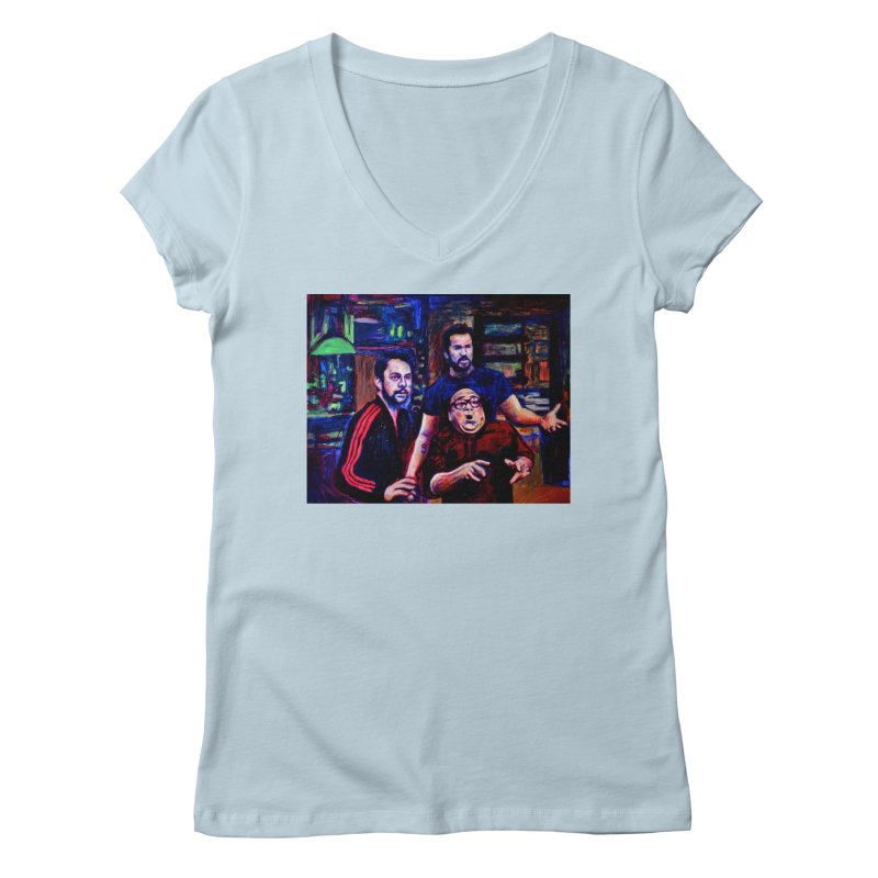 reactions Women's Regular V-Neck by paintings by Seamus Wray