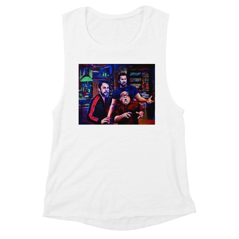 reactions Women's Muscle Tank by paintings by Seamus Wray
