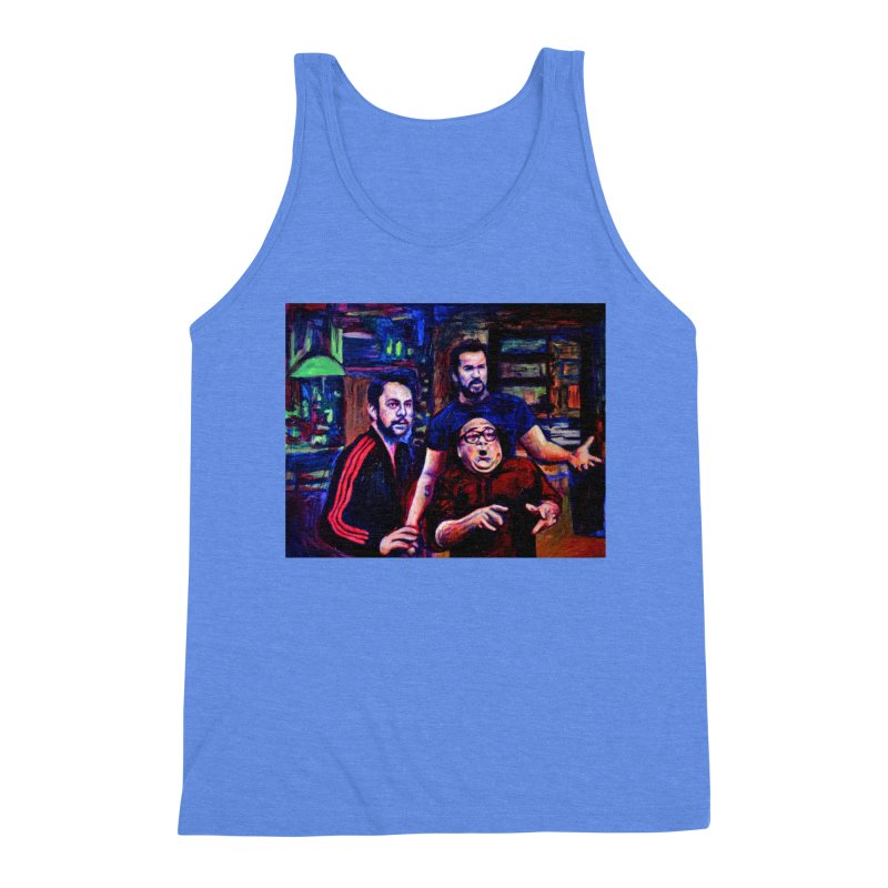 reactions Men's Triblend Tank by paintings by Seamus Wray