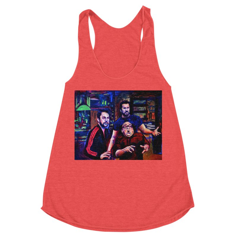 reactions Women's Racerback Triblend Tank by paintings by Seamus Wray