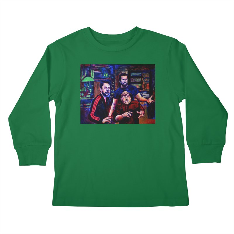 reactions Kids Longsleeve T-Shirt by paintings by Seamus Wray