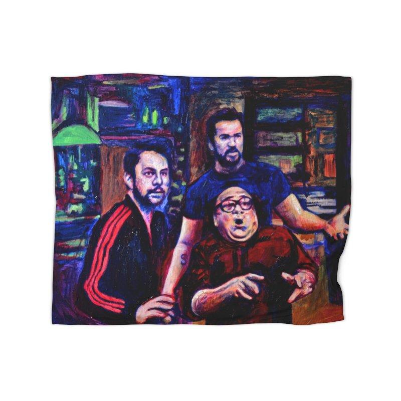 reactions Home Fleece Blanket Blanket by paintings by Seamus Wray