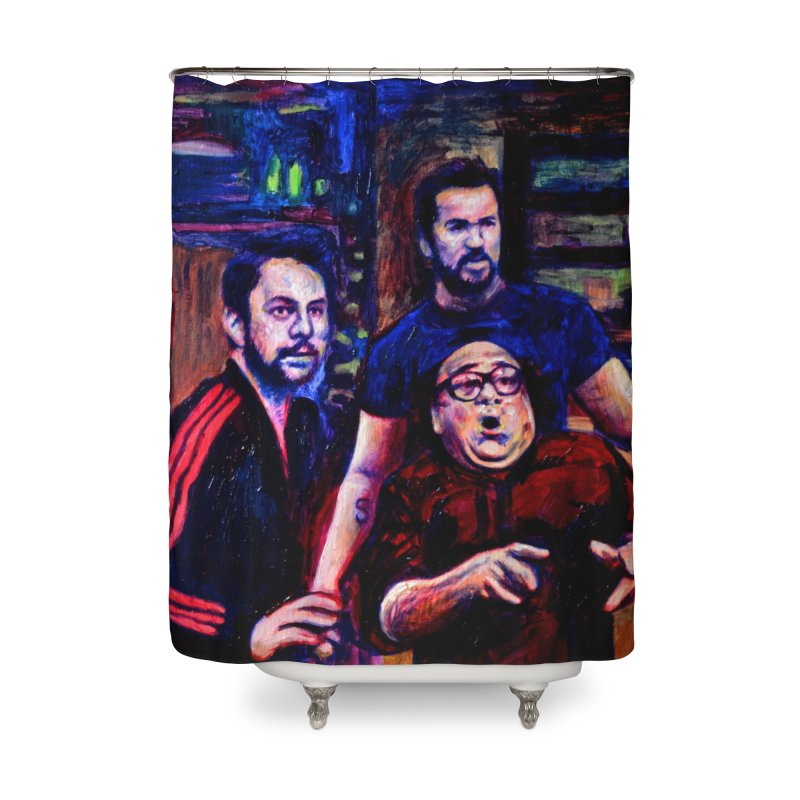 reactions Home Shower Curtain by paintings by Seamus Wray
