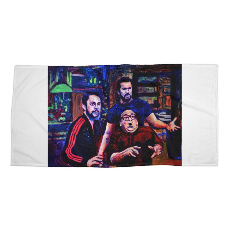 reactions Accessories Beach Towel by paintings by Seamus Wray