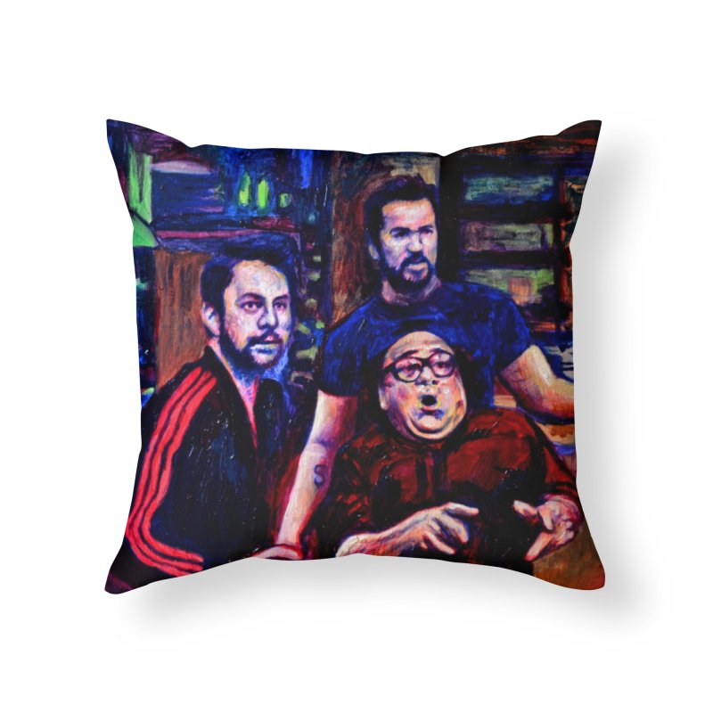 reactions Home Throw Pillow by paintings by Seamus Wray
