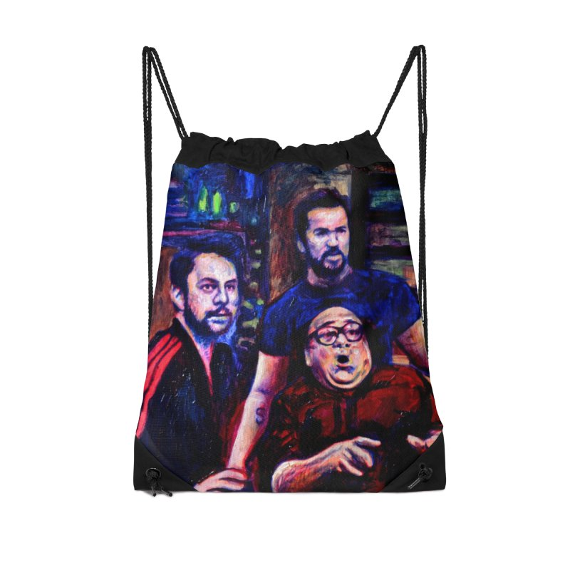 reactions Accessories Drawstring Bag Bag by paintings by Seamus Wray