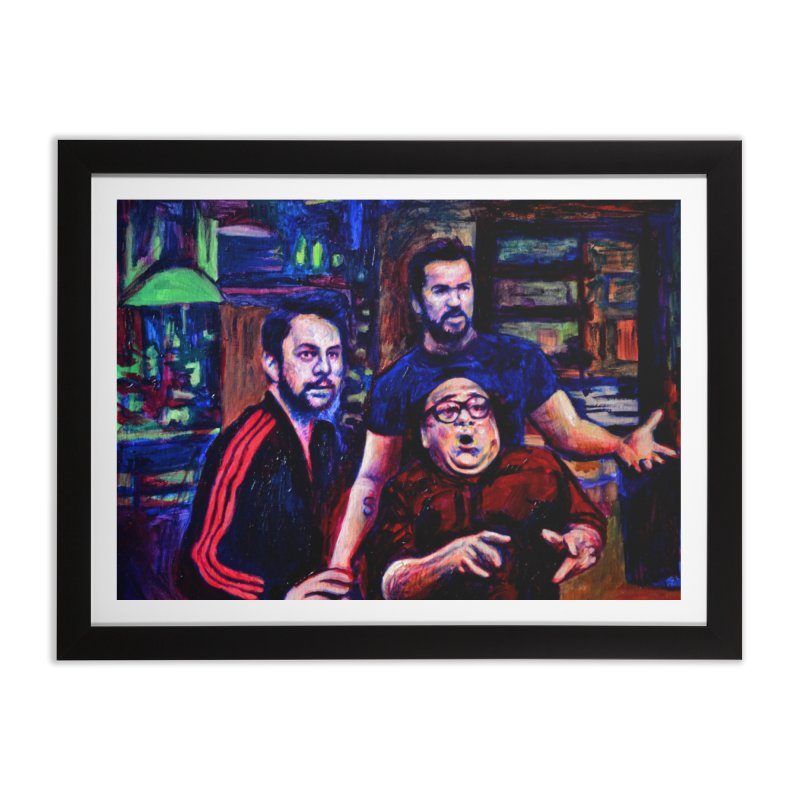 reactions Home Framed Fine Art Print by paintings by Seamus Wray