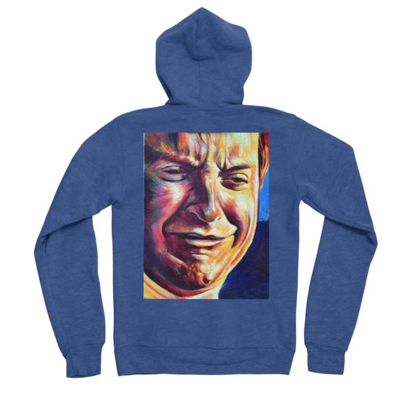 sad tobey Women's Sponge Fleece Zip-Up Hoody by paintings by Seamus Wray