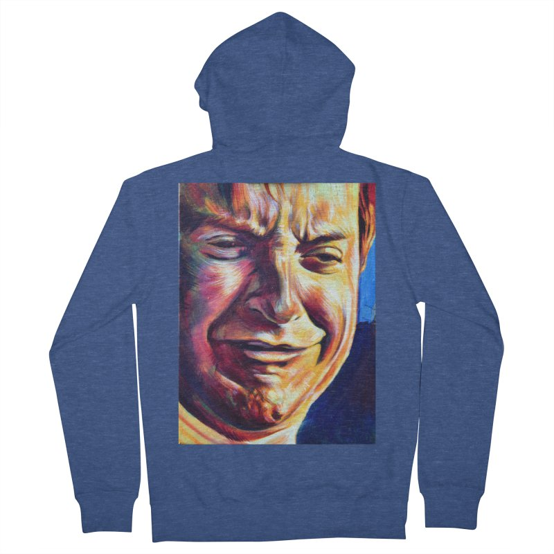 sad tobey Men's French Terry Zip-Up Hoody by paintings by Seamus Wray