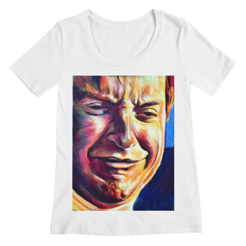 sad tobey Women's Regular Scoop Neck by paintings by Seamus Wray