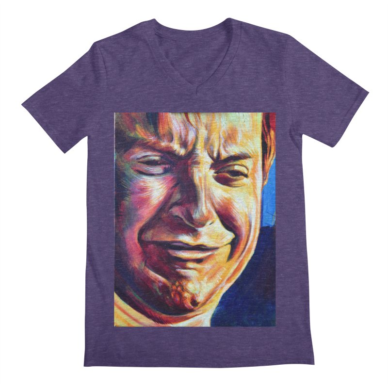 sad tobey Men's Regular V-Neck by paintings by Seamus Wray