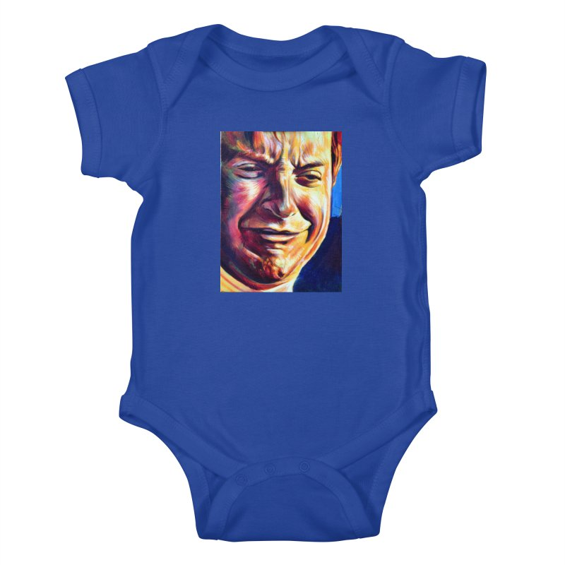 sad tobey Kids Baby Bodysuit by paintings by Seamus Wray