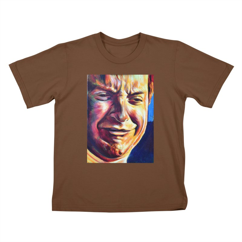 sad tobey Kids T-Shirt by paintings by Seamus Wray
