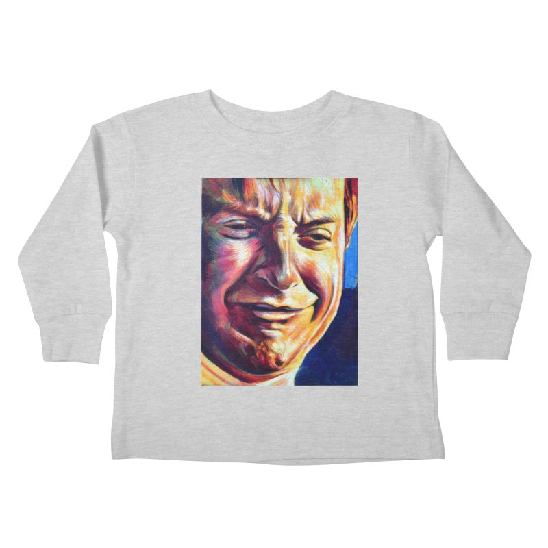 sad tobey Kids Toddler Longsleeve T-Shirt by paintings by Seamus Wray