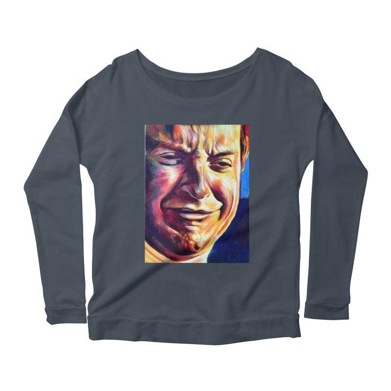 sad tobey Women's Scoop Neck Longsleeve T-Shirt by paintings by Seamus Wray