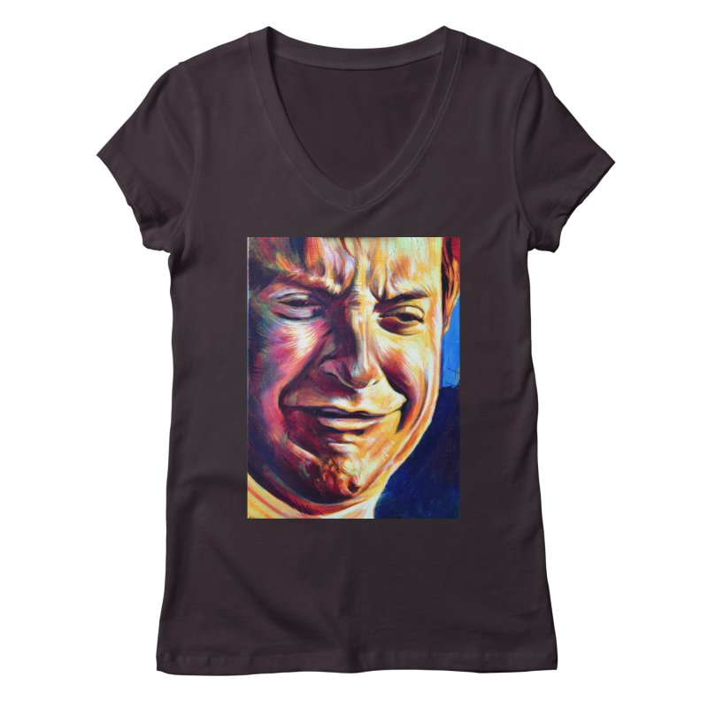 sad tobey Women's Regular V-Neck by paintings by Seamus Wray