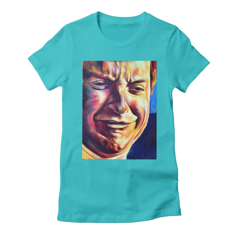 sad tobey Women's Fitted T-Shirt by paintings by Seamus Wray