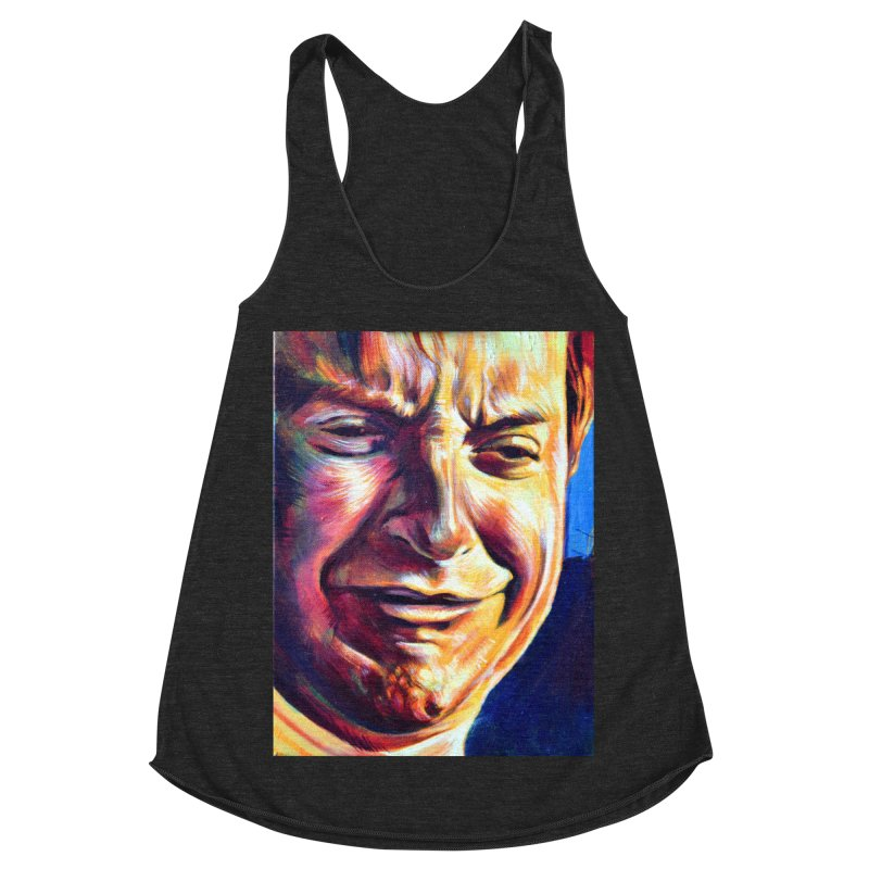 sad tobey Women's Racerback Triblend Tank by paintings by Seamus Wray