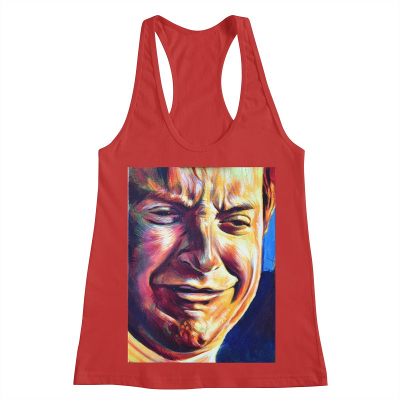 sad tobey Women's Racerback Tank by paintings by Seamus Wray