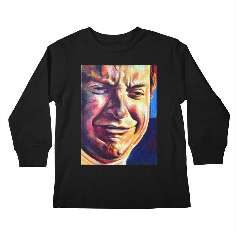 sad tobey Kids Longsleeve T-Shirt by paintings by Seamus Wray
