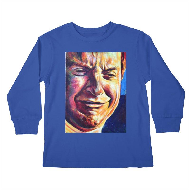 sad tobey Kids Longsleeve T-Shirt by paintings by Seamus Wray