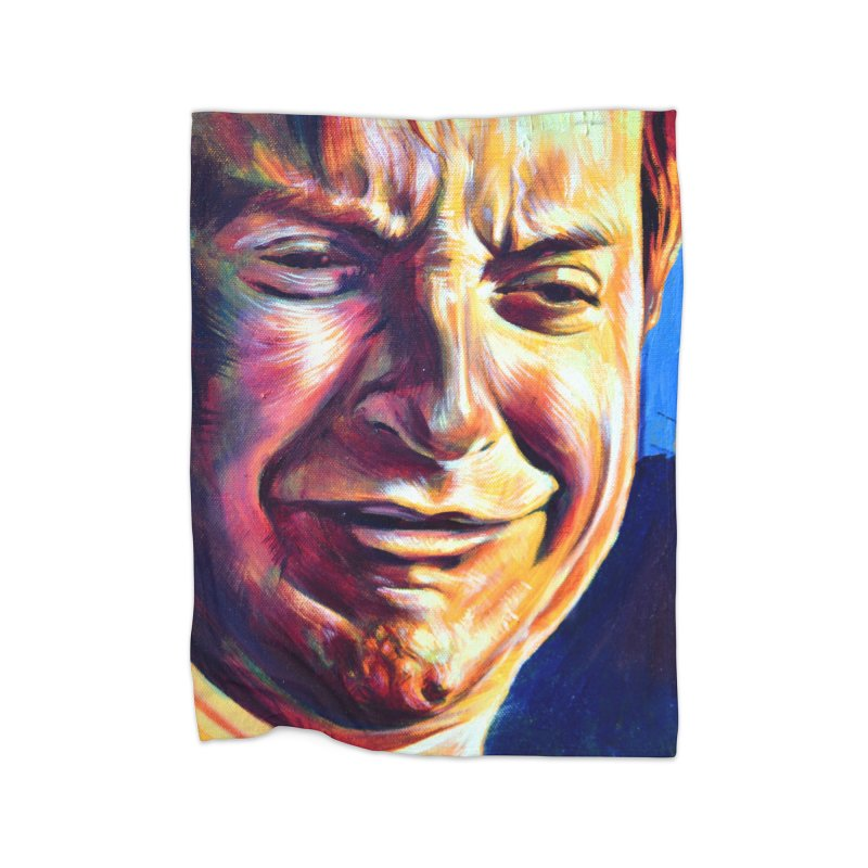 sad tobey Home Fleece Blanket Blanket by paintings by Seamus Wray