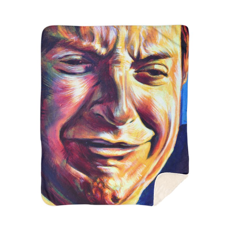sad tobey Home Sherpa Blanket Blanket by paintings by Seamus Wray
