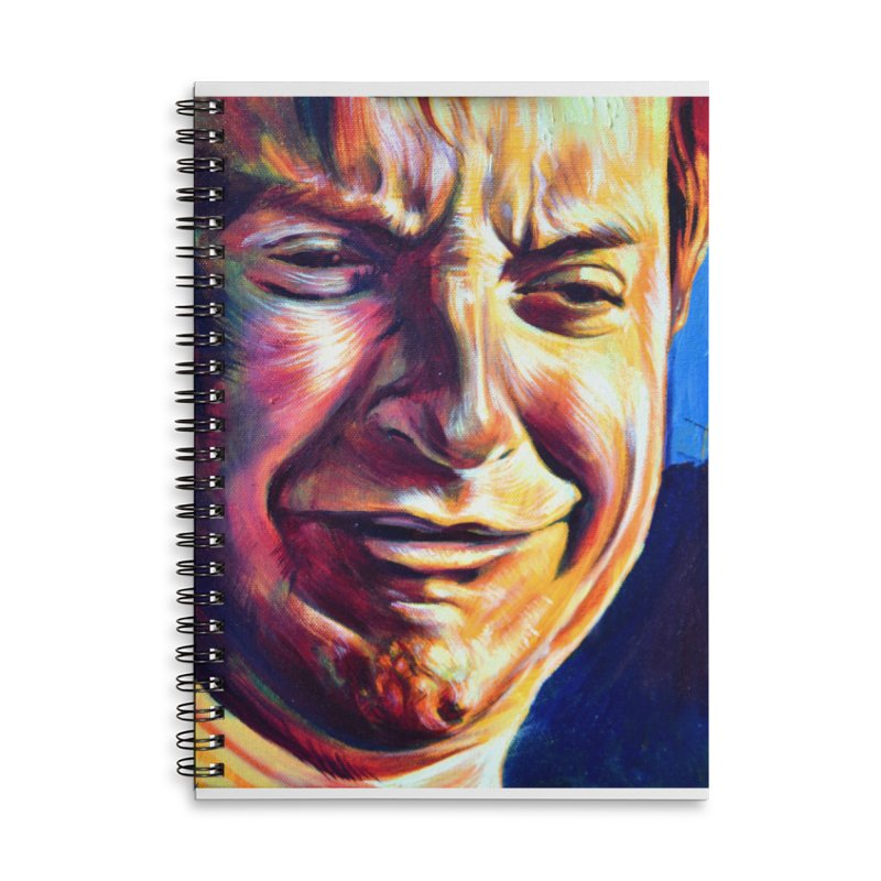 sad tobey Accessories Lined Spiral Notebook by paintings by Seamus Wray