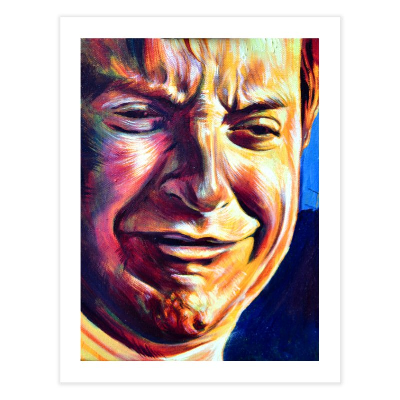 sad tobey Home Fine Art Print by paintings by Seamus Wray