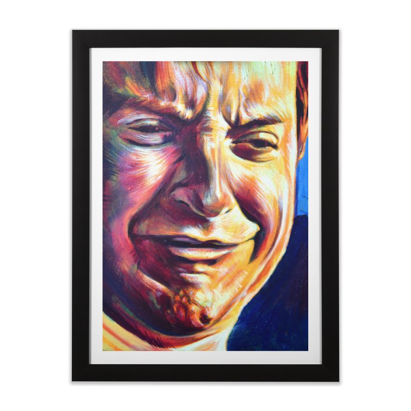 sad tobey Home Framed Fine Art Print by paintings by Seamus Wray